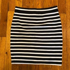 T by Alexander Wang striped bodycon knit skirt